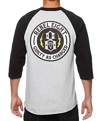 REBEL 8 G.A.C. Baseball T-Shirt
