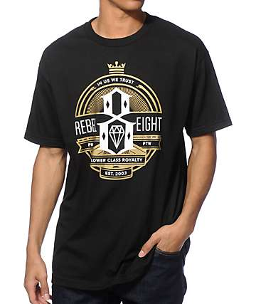 REBEL 8 Royalty Seal T-Shirt