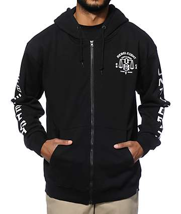 REBEL 8 Until Death Zip Up Hoodie