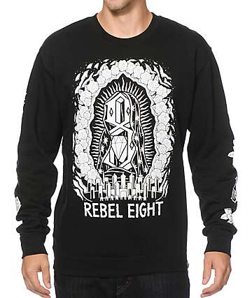 REBEL 8 Worship Worthy Crew Neck Sweatshirt