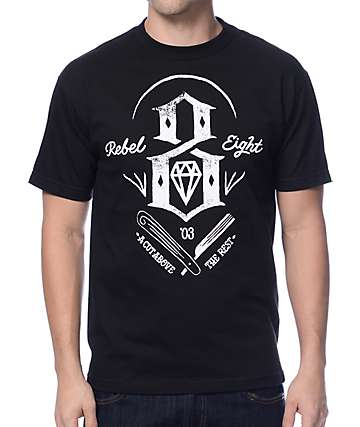 REBEL8 A Cut Above Black T-Shirt