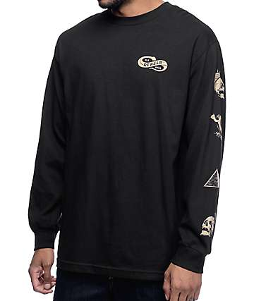 REBEL8 All Hail Black Long Sleeve Shirt