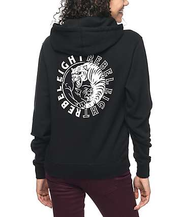 REBEL8 Animosity Black Hoodie