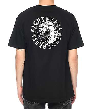 REBEL8 Animosity Black T-Shirt
