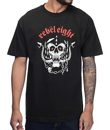REBEL8 Born To Die Black T-Shirt