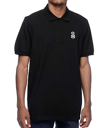 REBEL8 Bovver Black Polo Shirt