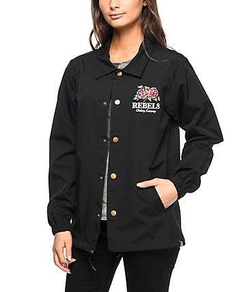 REBEL8 Centifolia chaqueta entrenador en negro