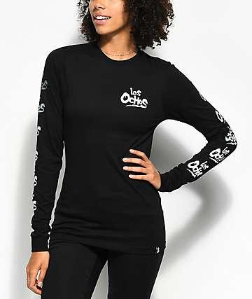 REBEL8 Coney camiseta negra de manga larga
