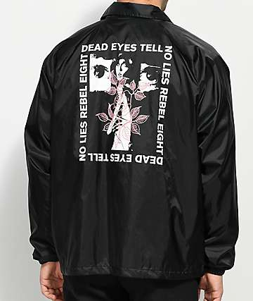 REBEL8 Dead Eyes Black Coaches Jacket
