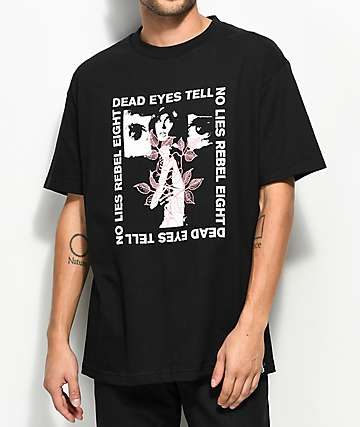 REBEL8 Dead Eyes Black T-Shirt