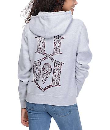 REBEL8 Descanso Heather Grey Hoodie
