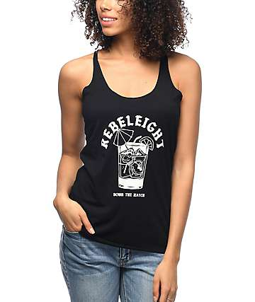 REBEL8 Down The Hatch Black Tank Top