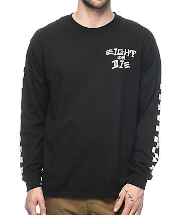 REBEL8 Eight Or Die Long Sleeve Black T-Shirt