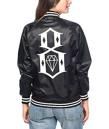 REBEL8 Eight Or Die chaqueta bomber en negro