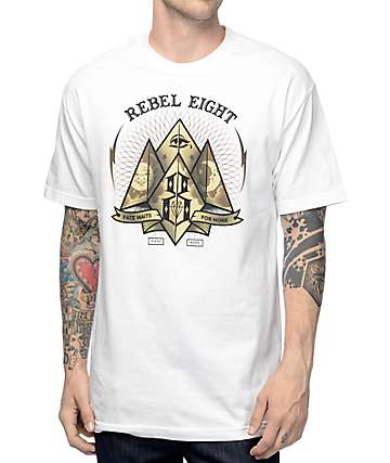 REBEL8 Fate For None White T-Shirt