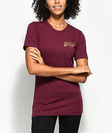 REBEL8 Floret  camiseta en color borgoño