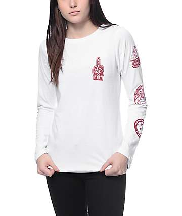 REBEL8 GFY White Long Sleeve T-Shirt