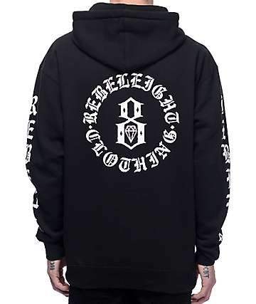 REBEL8 Immortals Black Hoodie