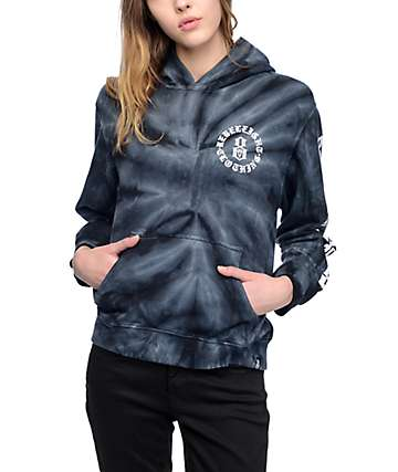 REBEL8 Immortals Black Tie Dye Hoodie