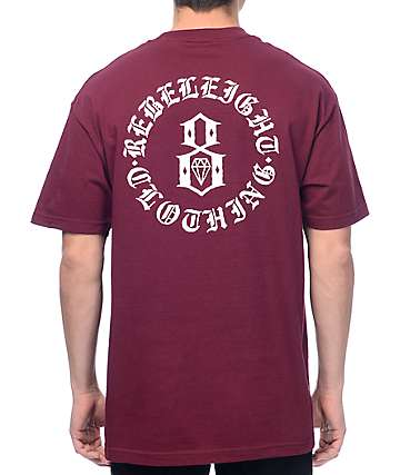 REBEL8 Immortals Burgundy T-Shirt