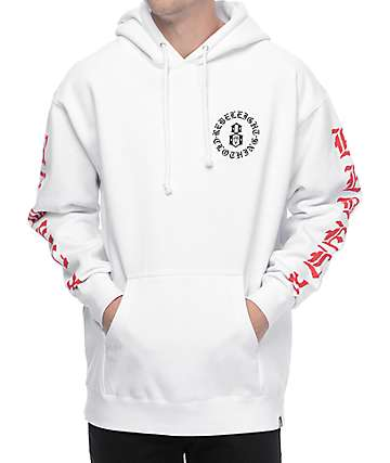 REBEL8 Immortals White Hoodie