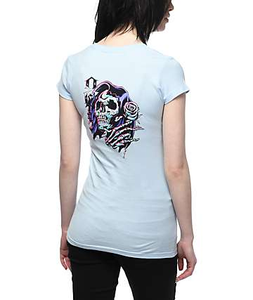 REBEL8 James Jirat Romance camiseta en azul claro