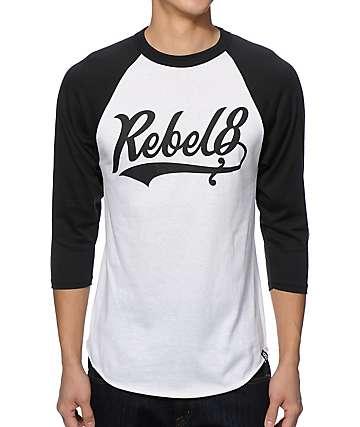 REBEL8 Lefty Baseball T-Shirt