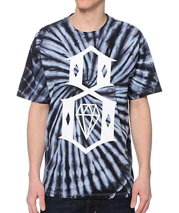 REBEL8 Logo Black Tie Dye T-Shirt