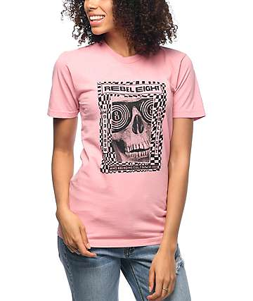 REBEL8 Mind Control Power Wash Pink T-Shirt