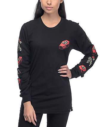 REBEL8 Nowhere Fast Black Long Sleeve T-Shirt