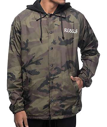 REBEL8 OG Camo Coaches Jacket
