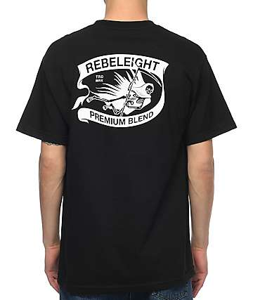 REBEL8 Premium Blend Black T-Shirt