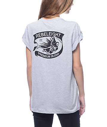 REBEL8 Premium Blend Grey T-Shirt