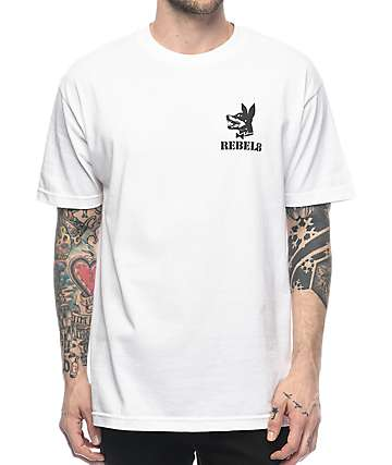 REBEL8 Proper Fucked White T-Shirt