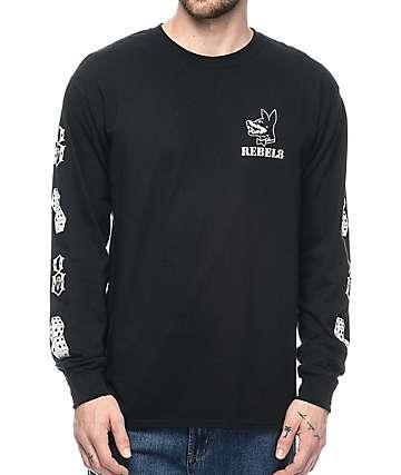 REBEL8 Proper Fucked camiseta negra de manga larga