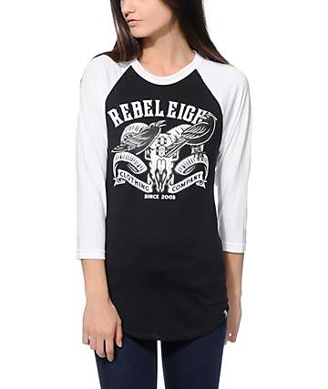 REBEL8 Raven Baseball Tee