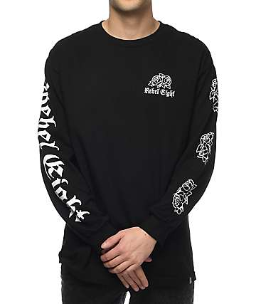 REBEL8 Rosemoor Black Long Sleeve T-Shirt