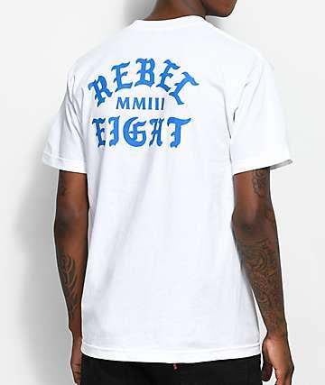 REBEL8 Scriptum camiseta blanca