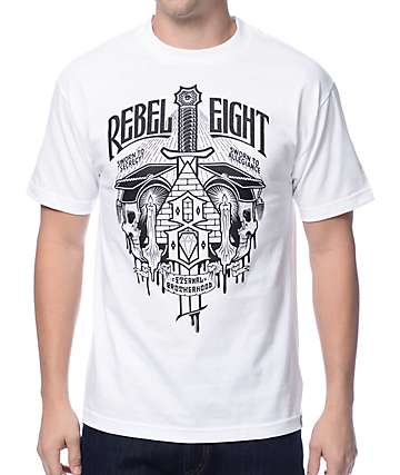 REBEL8 Secret Allegiance White T-Shirt