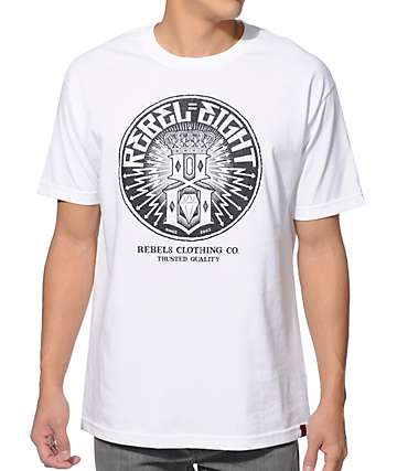 REBEL8 Sewer King White T-Shirt