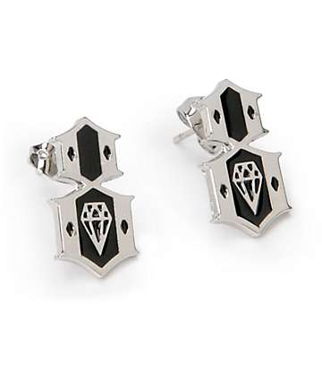 REBEL8 Silver Earrings