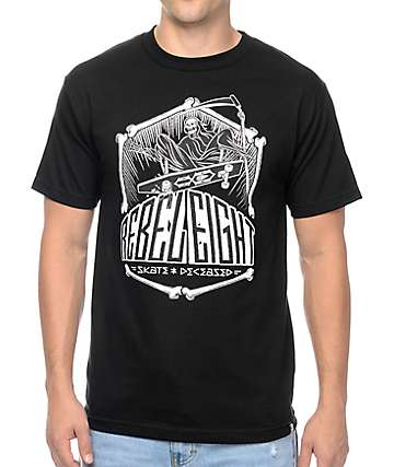 REBEL8 Skate And Deceased Black T-Shirt
