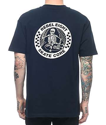 REBEL8 Skate Core Navy T-Shirt
