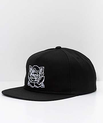 REBEL8 Stigma Black Snapback Hat