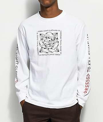 REBEL8 Stigma White Long Sleeve T-Shirt