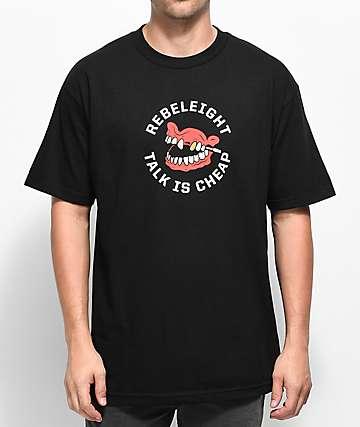 REBEL8 Talk Is Cheap camiseta negra