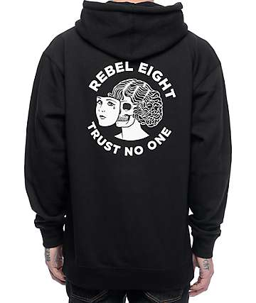 REBEL8 Two Faced Black Hoodie