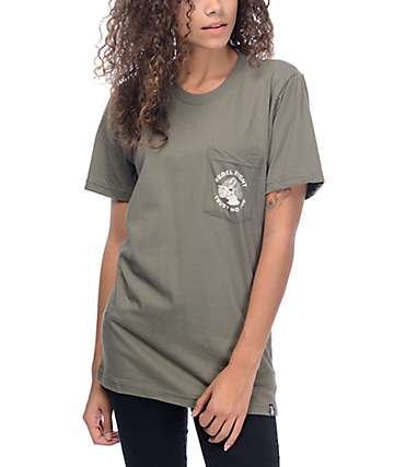 REBEL8 Two Faced Green Pocket T-Shirt