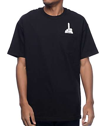 REBEL8 Voyer Black T-Shirt