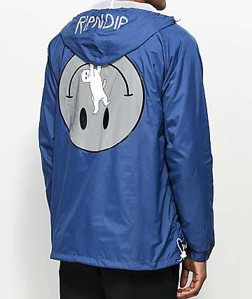 RIPNDIP Everything Will Be Okay Navy Anorak Jacket